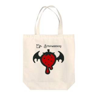 Evil Strawberry Tote bags