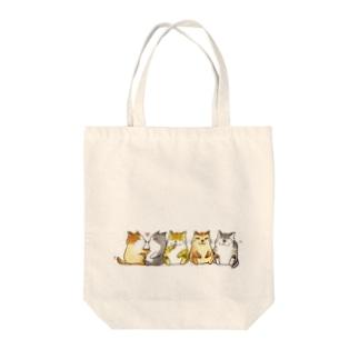 5匹ネコ Tote bags