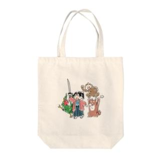 桃太郎と無抵抗鬼 Tote bags