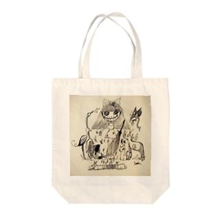 animal girl Tote bags