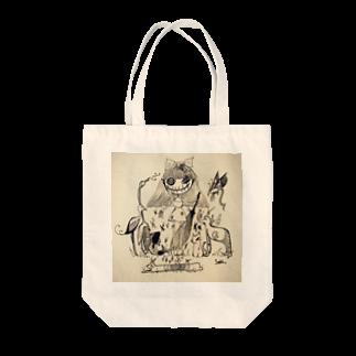 空腹.jpのanimal girl Tote bags