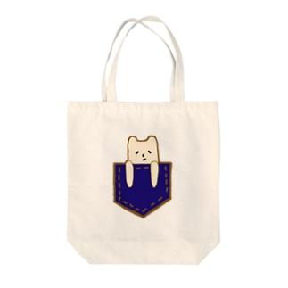 ポケットマイケル Tote bags