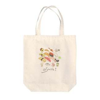 Osushiと仲間Tシャツ Tote bags