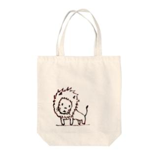 たそがれライオン Tote bags