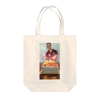 はぴば Tote bags