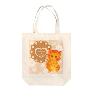 花摘み猫 Tote bags