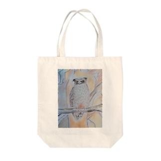 北海道のいきものシリーズ シマフクロウ Tote bags