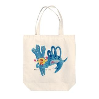 近未来の猫 Tote bags