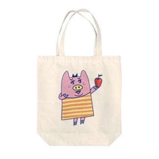 ぶーちゃんとアップル Tote bags