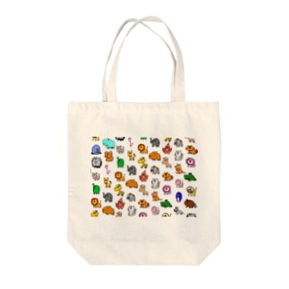 動物モノグラム Tote bags