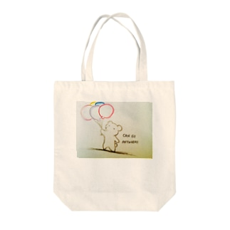 CAN GO ANYWHERE Tote bags