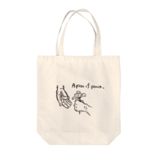 A piece of peace Tote bags