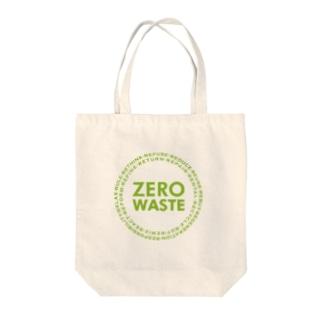 ZERO WASTE (グリーン) Tote bags