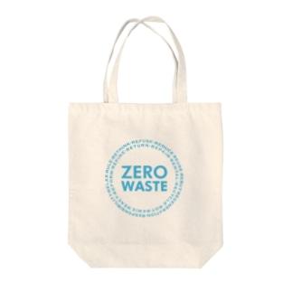 ZERO WASTE (ブルー) Tote bags