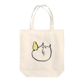 やさぐれねこ(鳥乗り) Tote bags