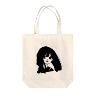 ぶっ飛び女子高生ちゃん Tote bags