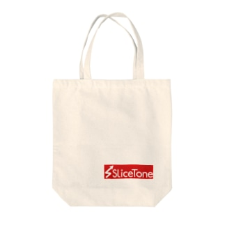 Slicetone Red Tote bags