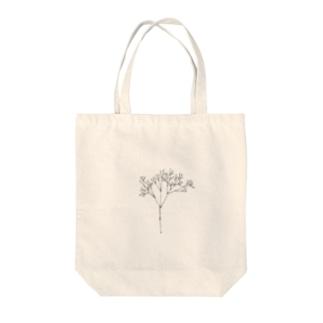カスミソウ(black) Tote bags