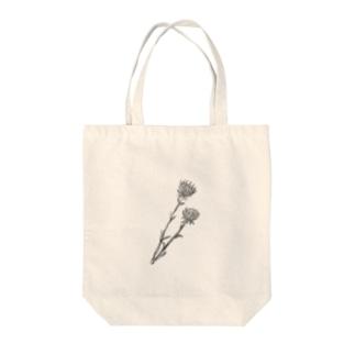 アザミ(black) Tote bags