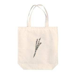 こぐま        のグリーン②(black) Tote bags