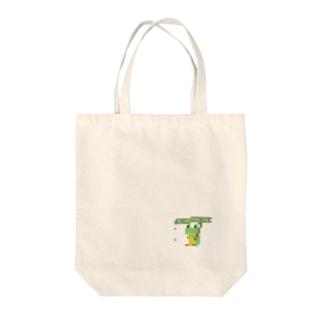 カエルさん Tote bags