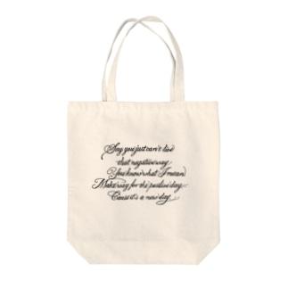 タトゥー風英文シリーズ Tote bags