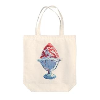 最強のかき氷 Tote bags