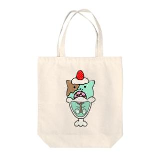 ぱふぇねこチョコミントちゃん(イラスト) Tote bags
