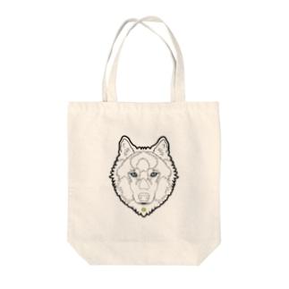 狼(ライン) Tote bags