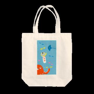 仙台弁こけしの仙台弁こけし(海) Tote bags