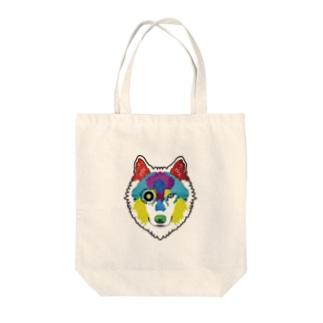 狼-絵具 Tote bags