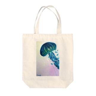 「そらのあお」クラゲファンタジー Tote bags