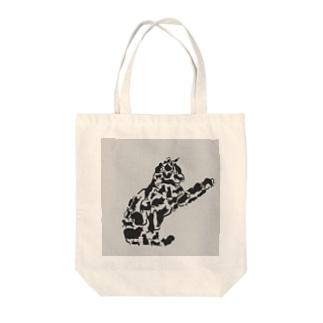 猫で猫 Tote bags