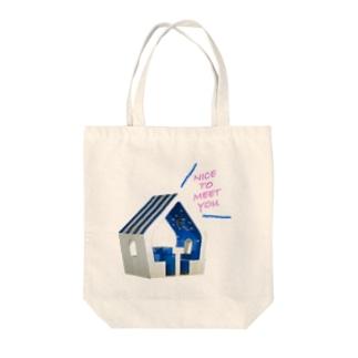 NICE TO MEET YOU Tote bags