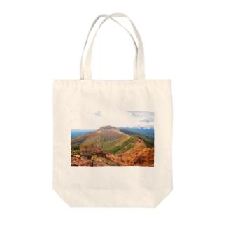 茶臼岳 Tote bags