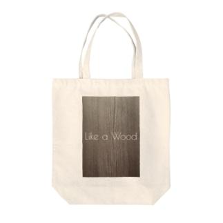 Like a Wood Tote bags