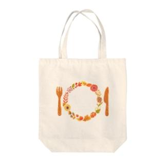 秋のごちそうリース Tote bags