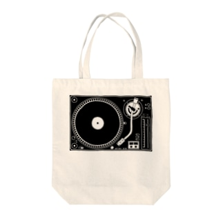 レコードプレイヤー Tote bags