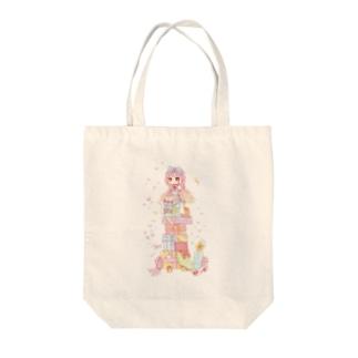 プレゼントと女の子 Tote bags