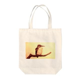 セピアなカワセミ Tote bags