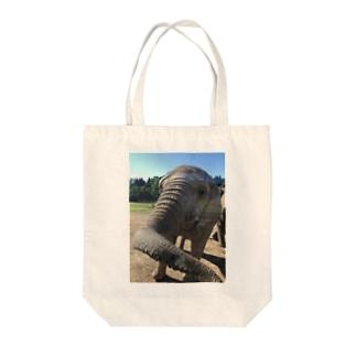 ゾウさんこんにちは Tote bags
