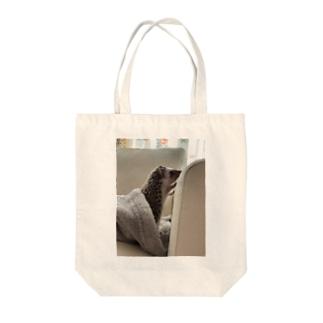 ハリモグラ君 Tote bags