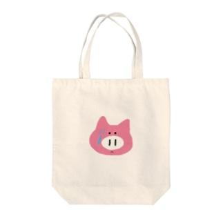 録画をミスって焦る豚ちゃん Tote bags
