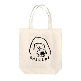 陽気なおにぎりガール Tote bags