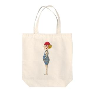 プールサイドウォッチャー Tote bags