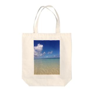 沖縄の青空 宮古島 Tote bags