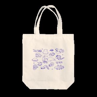 muniのゆるゆる深海魚 Tote bags