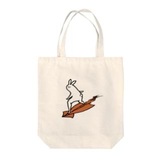 スルメを乗りこなす Tote bags