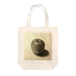 はじまりのりんご Tote bags