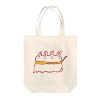連うさ Tote bags